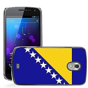 GoGoMobile Etui Housse Coque de Protection Cover Rigide pour // V00001012 Bosnia y Herzegovina Bandera Nacional // Samsung Galaxy Nexus GT-i9250 i9250
