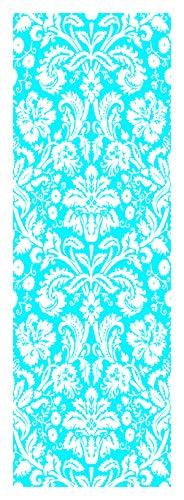Locker Designz Deluxe Magnetic Locker Wallpaper, Damask Blue and White