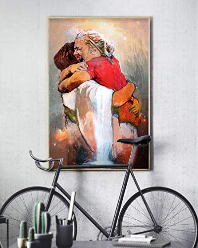 Holyshirt First Day in Heaven Painting I Held Him and Would Not Let Him Go Poster (24 inches x 36 inches)