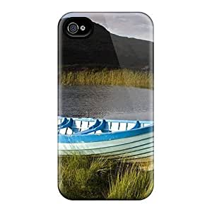 New Boat Tethered On An Irish Lake Tpu Skin Case Compatible With iPhone 5c
