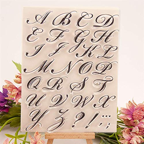 Welcome to Joyful Home 1pc Art Alphabet Rubber Clear Stamp for Card Making Decoration and Scrapbooking