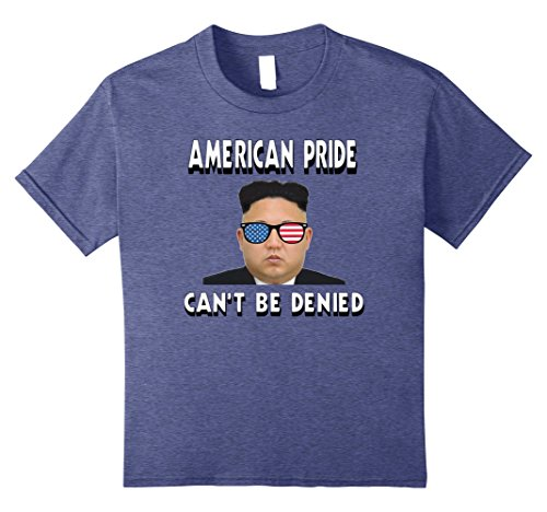 Kids North Korea Kim Jong Un Tshirt - 'Merica Shades S 12 Heather - Un Jong Sunglasses Kim