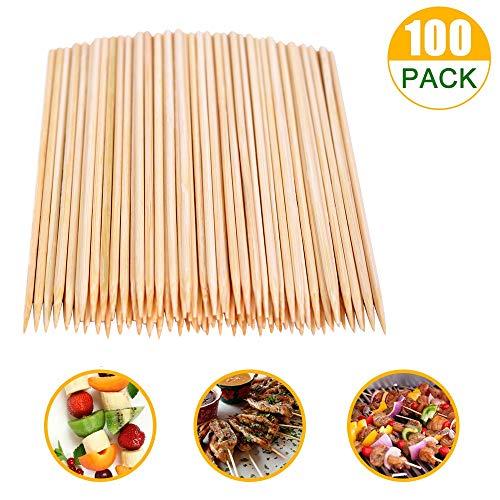 SRXING Bamboo SkewersKebab SticksWooden