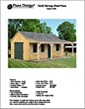 12' X 20' Cottage Shed with Porch Project Plans -Design #81220
