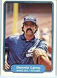 1982 Fleer Baseball Card #349 Dennis Lamp Chicago White Sox Official MLB Trading Card