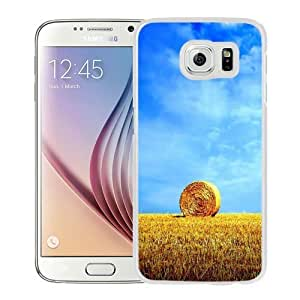 NEW Unique Custom Designed Samsung Galaxy S6 Phone Case With Hay Stack Ballot Field_White Phone Case