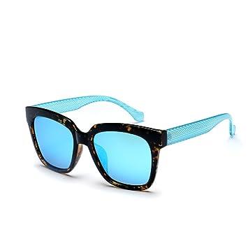 WKAIJC Box Der Zustrom Von Frauen Farbfilm Große Kiste Mode Persönlichkeit Bequem Kreativ Sonnenbrille,A