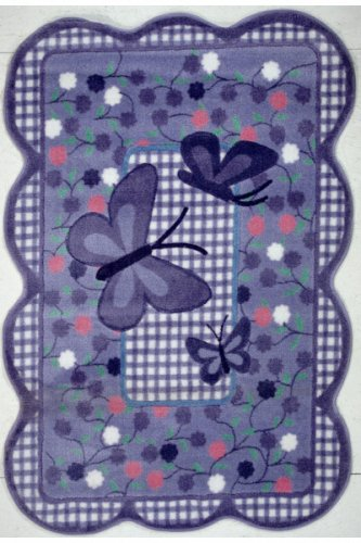Price comparison product image Fun Rugs TSC-225 3958 Purple Butterfly Accent Rug, 39-Inch by 58-Inch