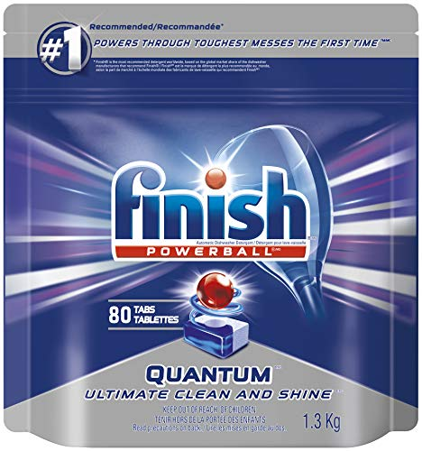 Finish Dishwasher Detergent, Quantum Max, Fresh, Mega Value Pack, 80 Tablets, Shine and Glass Protect (Packaging may vary)