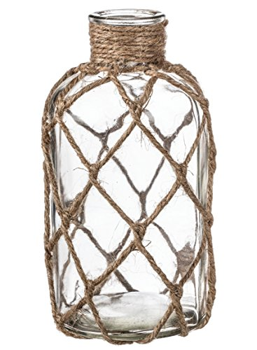 Sullivan's Decorative Glass Bottle with Jute Netting (Small)