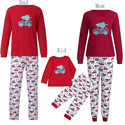 Women Kids Family Man PJS Matching Christmas Pajamas Set Duseedik Blouse Santa Pant Baby T Shirt