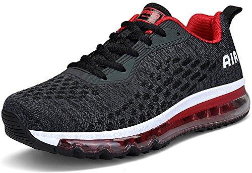 Rot EU 5 46 Sneaker Dämpfung Mit Air Turnschuhe Schwarz Farben SEECEE Laufschuhe Sportschuhe 36 Unisex Wqczxa6wT