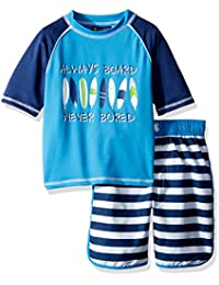 Boys' Stripe Rash Guard Set