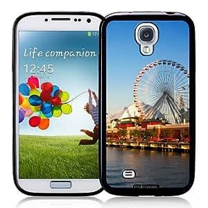 Navy Pier Chicago - Protective Designer BLACK Case - Fits Samsung Galaxy S4 i9500