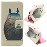 """M-LV Apple 4.7"""" iPhone 6 leather Case <Totoro > Fashion Pattern Printing Wallet Flip Magnet Cards Slots Stand Leather Carry Case with Screen Protector and Cleaning Cloth"""