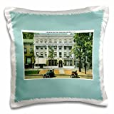 3dRose Inn, Saratoga Springs New York with Antique Cars Pillow Case, 16 x 16''
