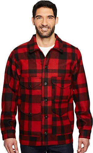 Mackinaw Cruiser Jacket (Filson Men's mackinaw Crusier Red/Black Large)