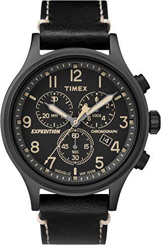 Timex Expedition TW4B09100 Scout Chrono Men Watch, Black Black