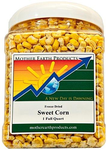 Mother Earth Products Freeze Dried Corn, Super Sweet, Quart Jar