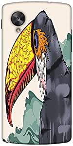 Snoogg Stylized Toucan 2703 Designer Protective Back Case Cover For Google Ne...