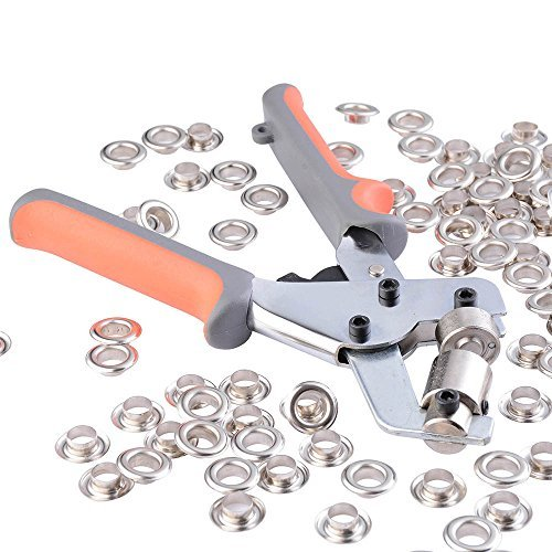 Yescom Portable Handheld Grommets Punching Machine Manual Puncher Press Tool w/ 500pcs 3/8''(10mm) Eyelets