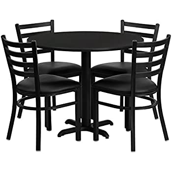 Amazon.com - Home Styles 5178-318 5-Piece Dining Set, Black Finish ...