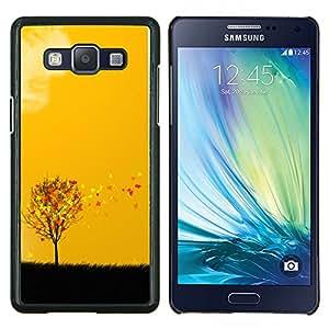 Caucho caso de Shell duro de la cubierta de accesorios de protección BY RAYDREAMMM - Samsung Galaxy A5 A5000 - Arte otoño Estaciones Amarillo Naranja Árbol Campo