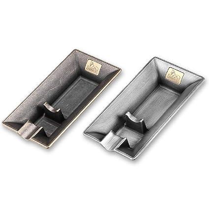 XIE Two Creative Design Metal Cigar Ashtray Luxury Cigar Accessories Cigar  Holder