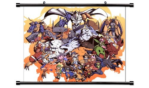 Digimon Anime Fabric Wall Scroll Poster  Inches