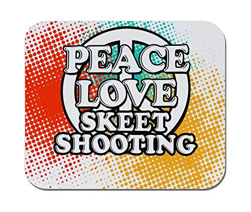 - Makoroni - Peace Love Skeet Shooting - Non-Slip Rubber Mousepad, Gaming Office Mousepad