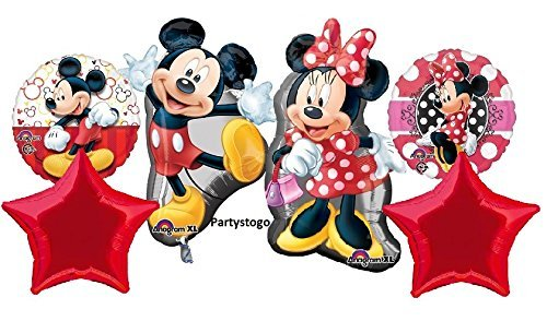 MICKEY AND MINNIE BIRTHDAY PARTY BALLOONS BOUQUET DECORATIONS