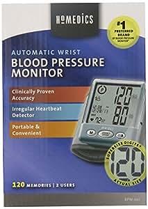 HoMedics BPW-201 Automatic Wrist Blood Pressure Monitor with Supersize Digits, Smart Measure Technology and Irregular Heartbeat Detector