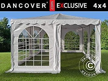 Dancover Carpa Pagoda Exclusive 4x4m PVC, Blanco: Amazon.es: Jardín
