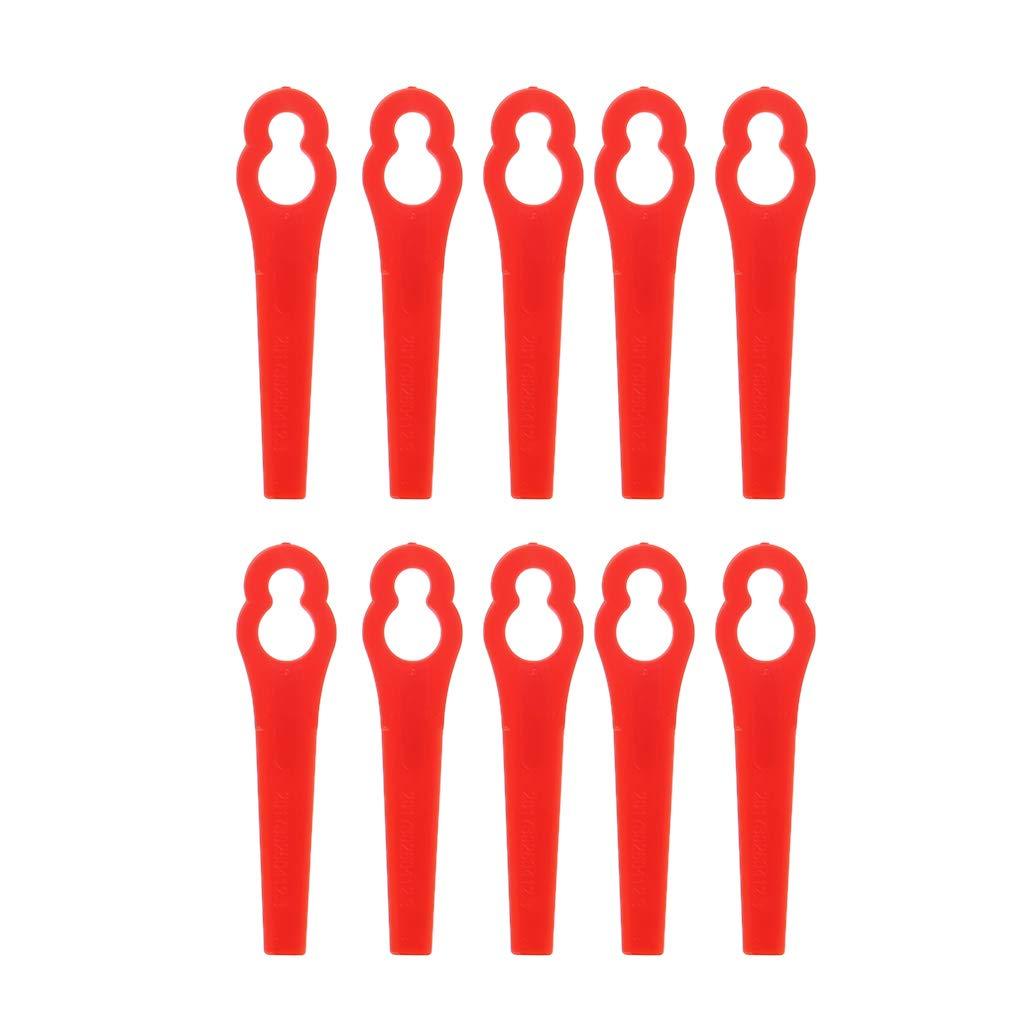 Abordable Pi/èces Access Manyo Lames en Plastique de Rechange pour Coupe Bordure sans Fil 20 Pcs