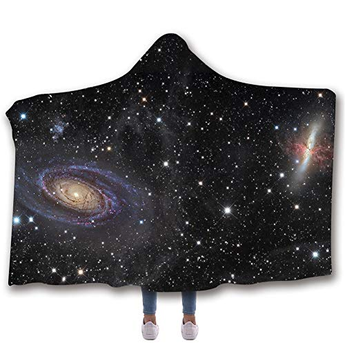 Galaxy Star Series Hooded Sherpa Blanket | Soft Printed No Fading Air Conditioning Blanket 59