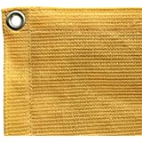 Shatex Shade Fabric for Pergola/Patio/Garden New Design Shade Panel with Grommets 10x12ft Wheat