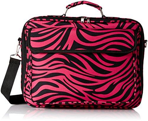 - World Traveler 17 Inch Laptop Computer Case, Fuchsia Black Zebra, One Size