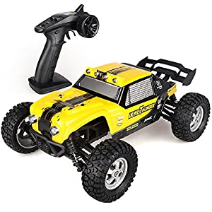 Wisleo Waterproof RC Car 1:12 Scale 4WD High Speed Electric Buggy Remote Control Off Road Monster Truck with LED Lights