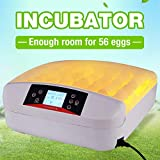 Bonebit 56 Digital Egg Turner Hatcher Automatic Egg Incubator Poultry Chicken Bird Duck