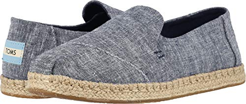 TOMS Women's Deconstructed Alpargata Rope Navy Chambray 8.5
