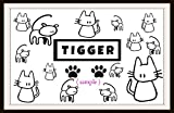 Personalized Cat Food Placemat laminated floor mat non skid back
