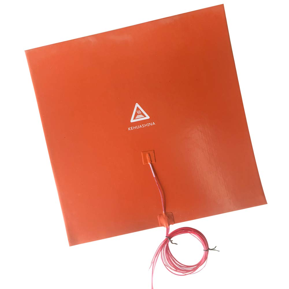 Kehuashina Compatiable with CR-10//CR-10S 3D Printer Silicone Heated Pad Heating Plate with 3M Adhesive Backing 400mm x 400mm x 1.5mm 110V 1400W