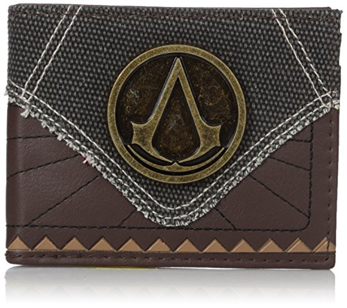 [Bioworld Men's Assassins Creed Suit Up Bi-fold Wallet, brown, One Size] (Game Wallet)