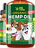 Hemp Oil for Dogs Cats Natural Hemp Extract Drops 1000 mg Made in USA Natural Dog Pain Relief Pet...