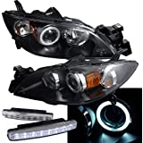 2004-2008 Mazda 3 Halo Headlights Projector + 8 Led Fog Bumper Light