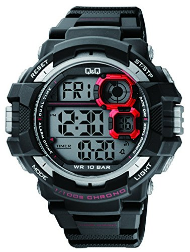Q amp;Q Regular Digital Black Dial Men #39;s Watch   M143J001Y