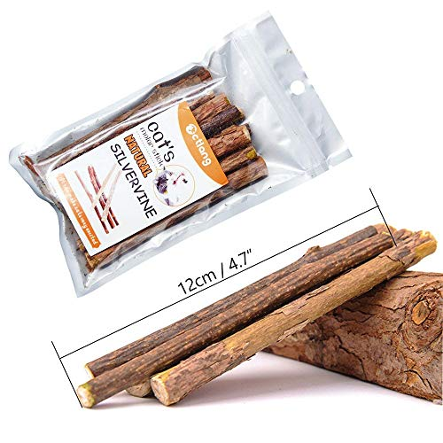 WoLover Cat Catnip Sticks Natural Matatabi Silvervine Sticks - Cleaning Teeth Molar Tools Kitten Cat Chew Toy Natural Catnip Mouse Cat Toy 8