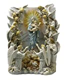 Maria Regina Angelorum with 19 Angels Wall Plaque light Color Polystone