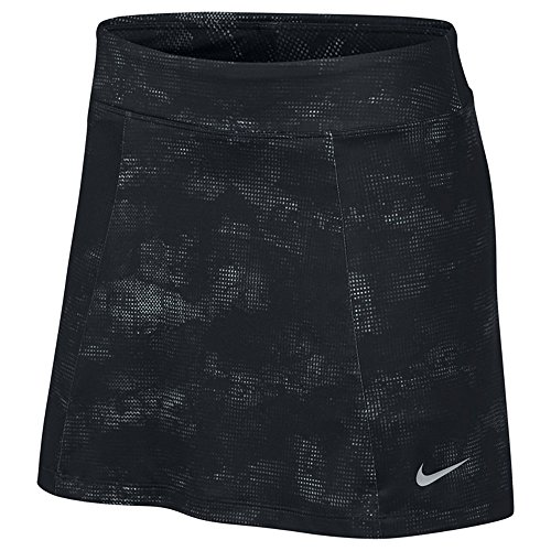 Nike Knit Skirt - Nike 14.5in Dry Knit Print Golf Skort 2017 Women Black/Flat Silver Medium