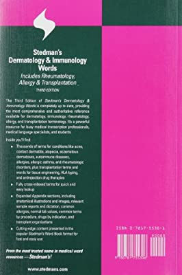 Stedman's Dermatology and Immunology Words: Includes